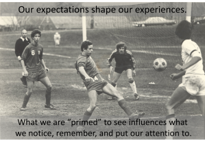 Our Expectations Shape our Experiences